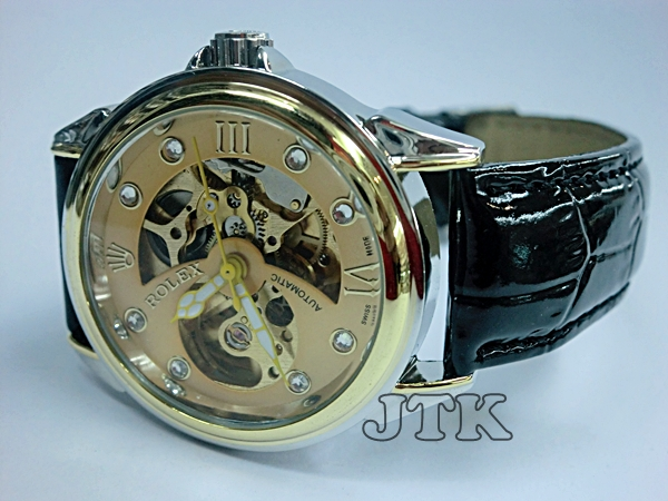 Jam Rolex Skeleton Leather