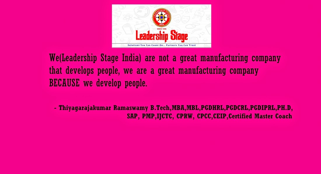 Thiyagarajakumar Ramaswamy's Leadership Stage India
