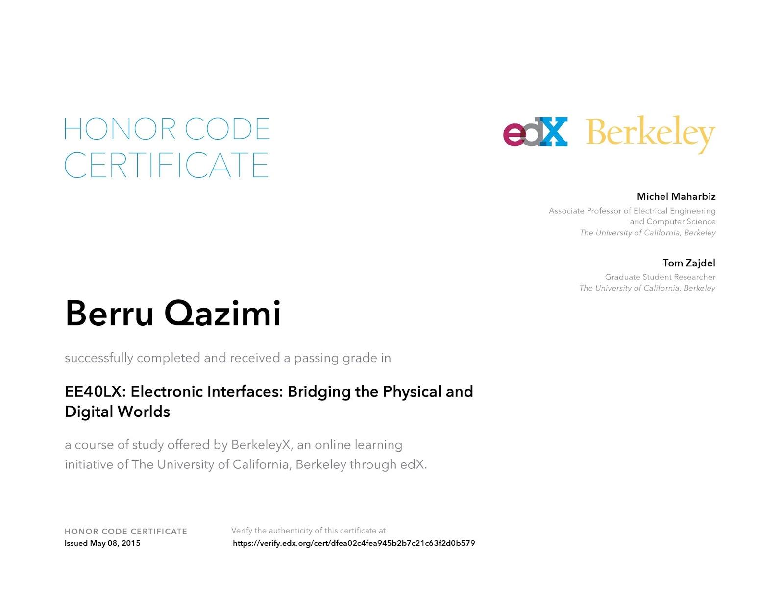 Me Certificate Uc Berkeley