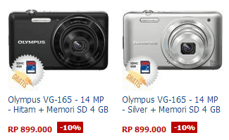 Harga Kamera Olympus VG-165