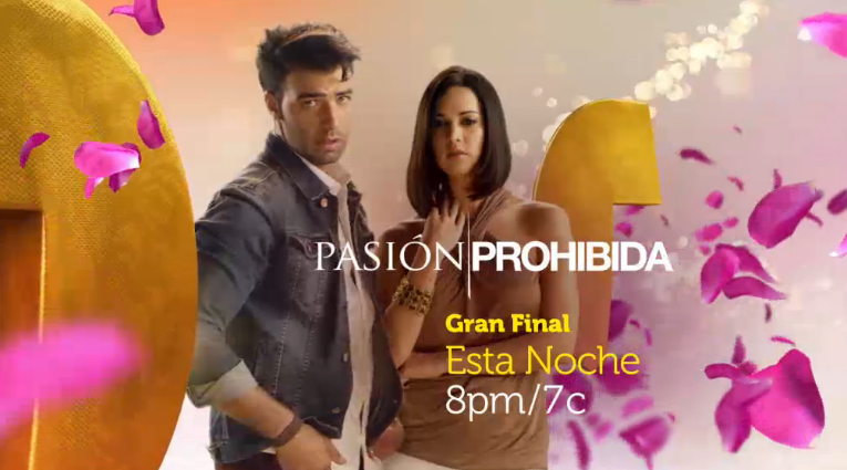 ... final de ¨Pasión Prohibida¨ por la pantalla de Telemundo, en
