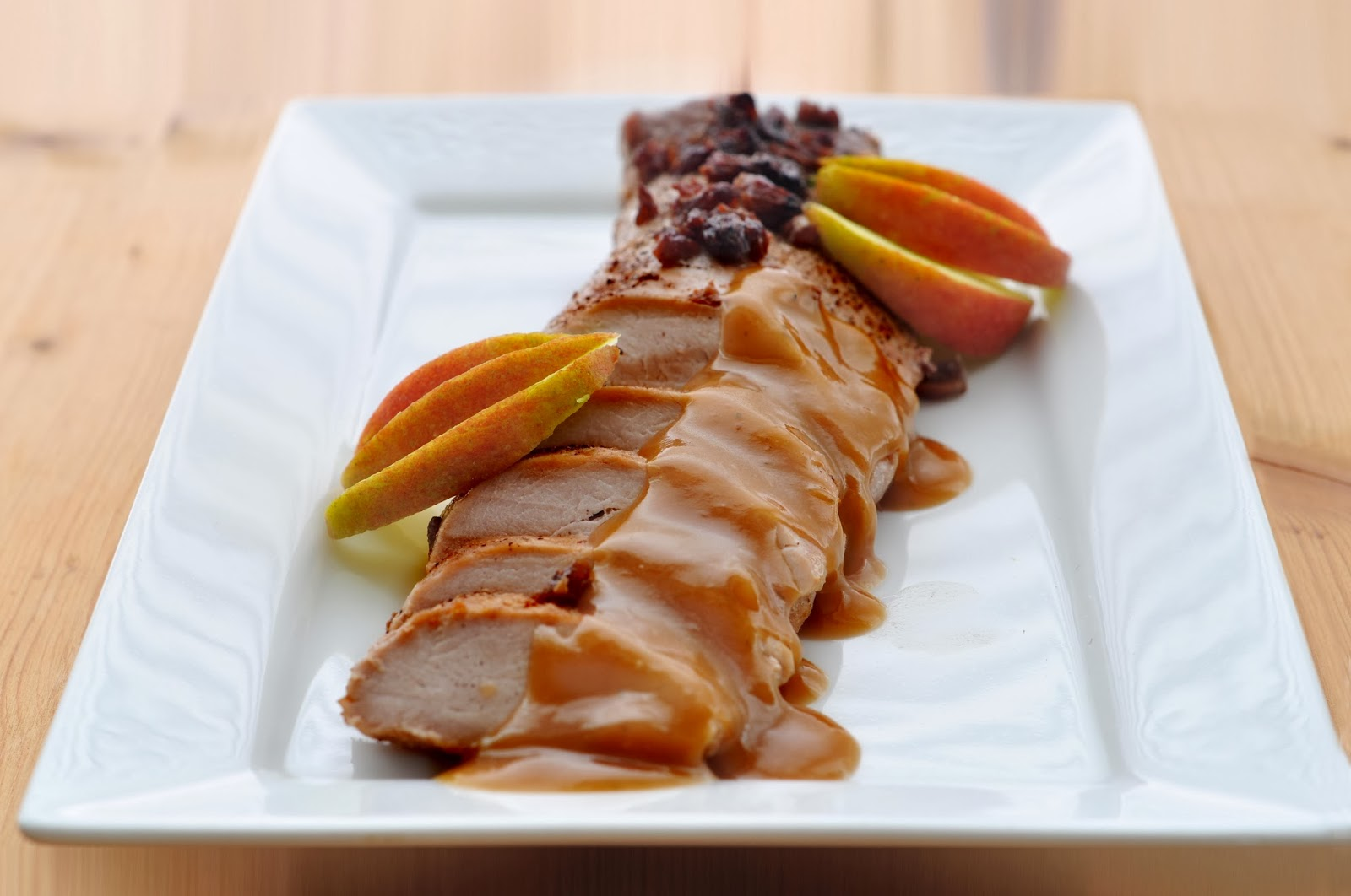 Pork Fillet with Raisin and Cider Sauce