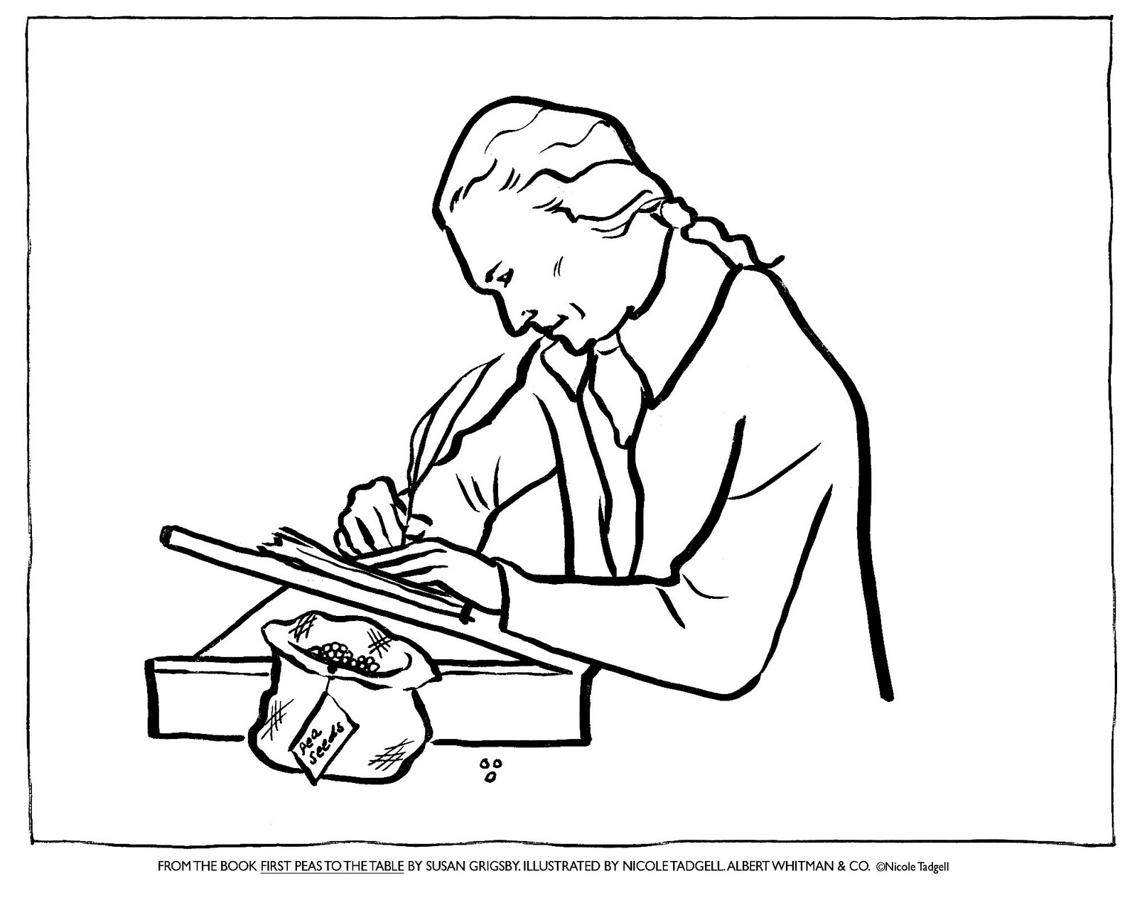 Nicole Tadgell Illustration Coloring Pages for First Peas to the