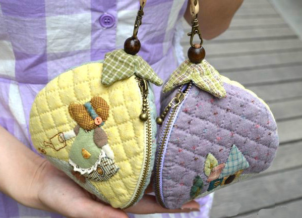 Patchwork And Quilted Zip Pouch Cosmetic Bag Diy Photo Tutorial