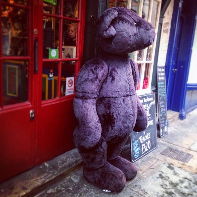Giant bear on the street