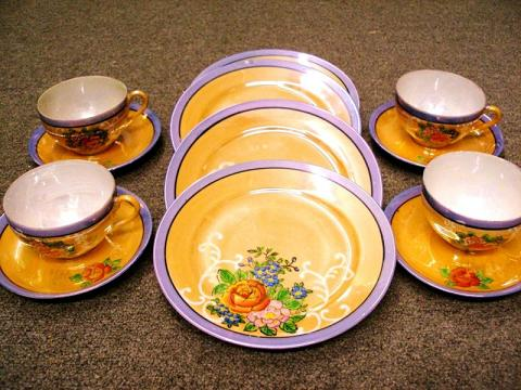 vintage japanese lustreware 12