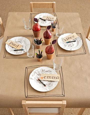 mesa infantil para celecraciones