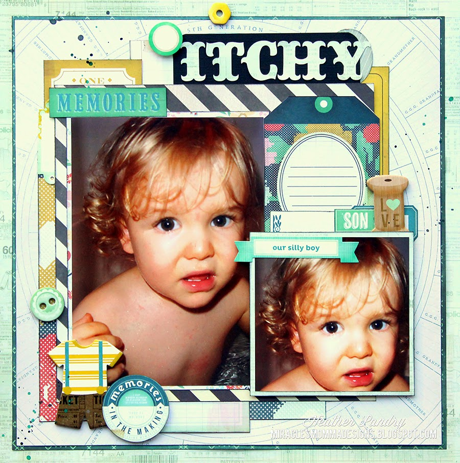 Scrapbook Page_Baby Boy_Curls
