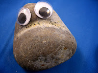 sad depressed pet rock goggly eyes