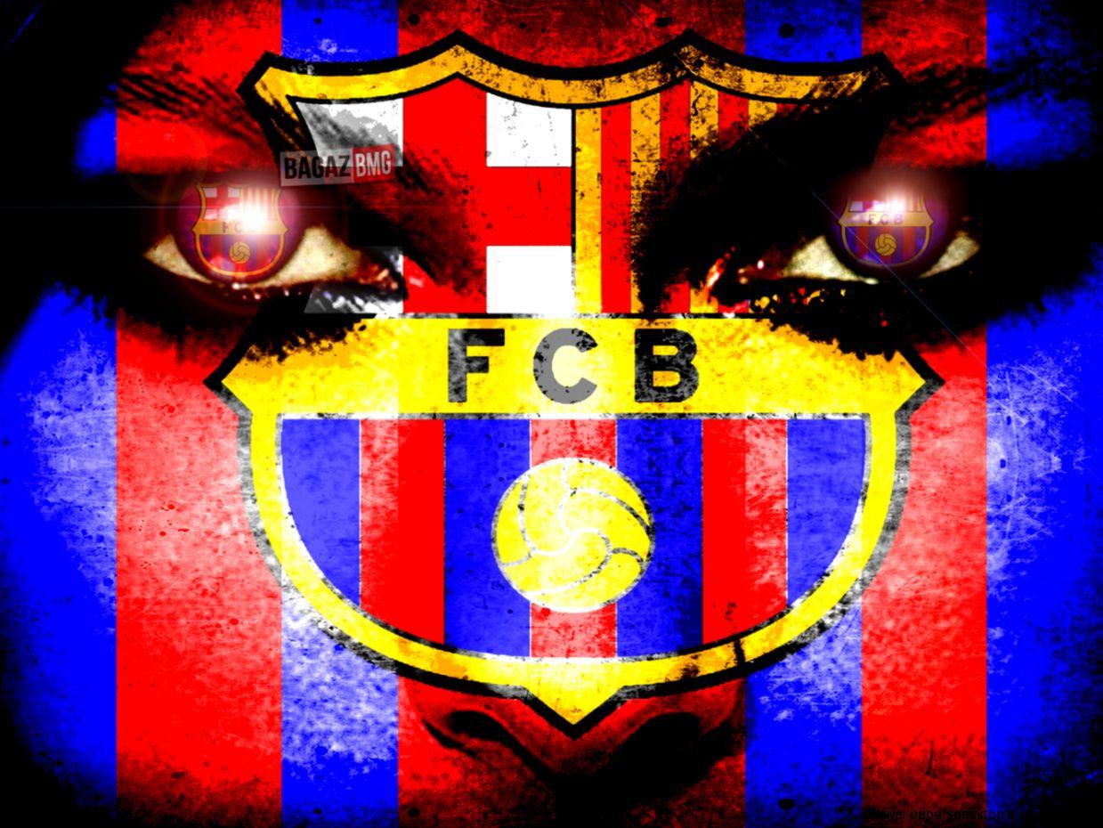 Barcelona Fc Logo Face Wallpaper | All Wallpapers Desktop