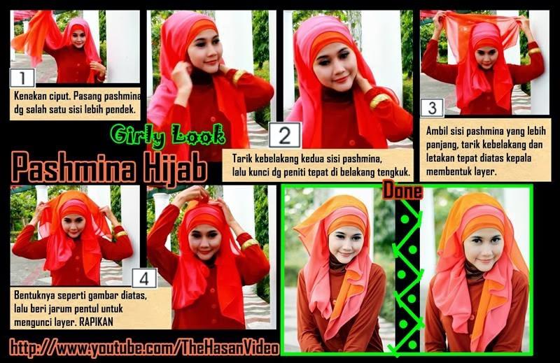 Jilbab untuk Hijaber Indonesia: Tutorial Hijab Pashmina Simple ...