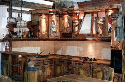 rustic kitchen 2015, How to make the kitchen more cozy with their own hands