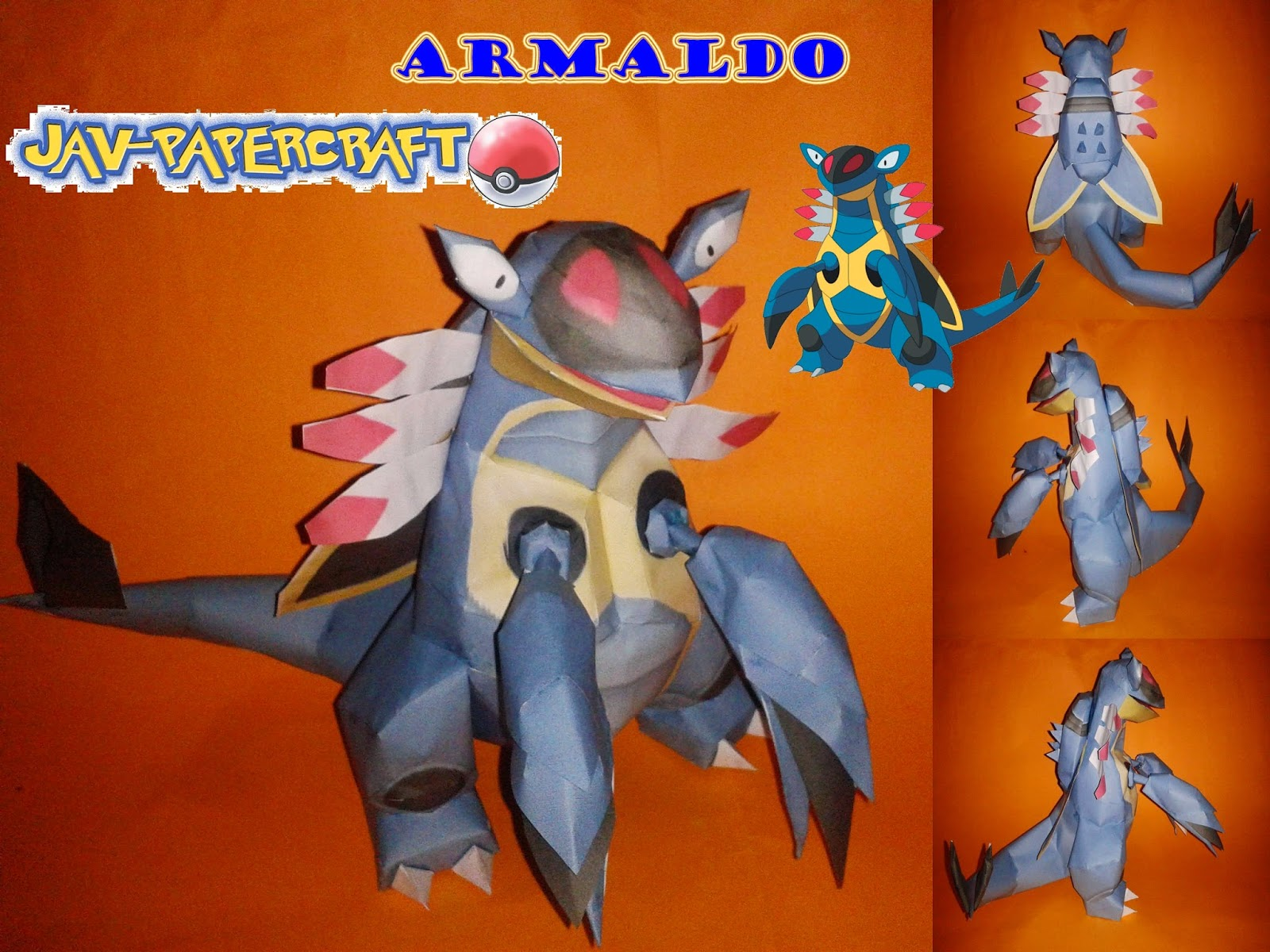 Pokemon Armaldo Papercraft