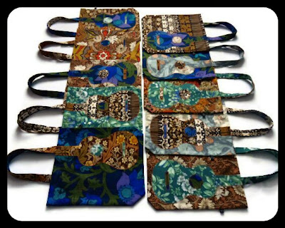 Ukulele bags by Ivy Arch in hotchpotch vintage fabrics