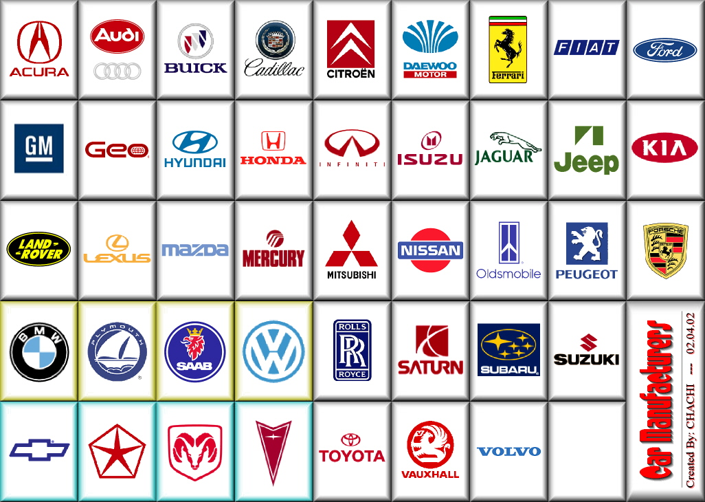 Car logos come in different shapes sizes and colors car logo stickers