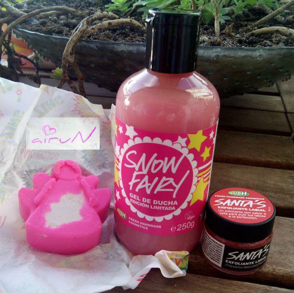 snow fairy gel masaje santa´s lush