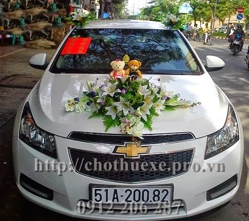 Cho thuê xe cưới Chevrolet Cruze đời mới 1