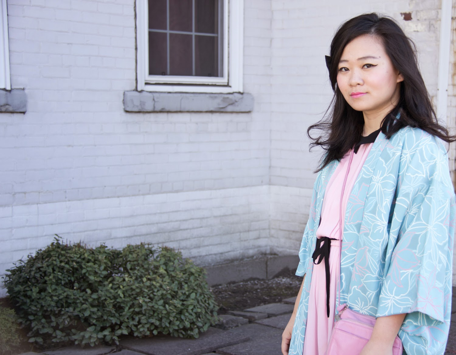 Japanese-Kimono, Baby-Blue-Pastel-Pink, Asian-Style, Spring-Look, Fashion-Blogger