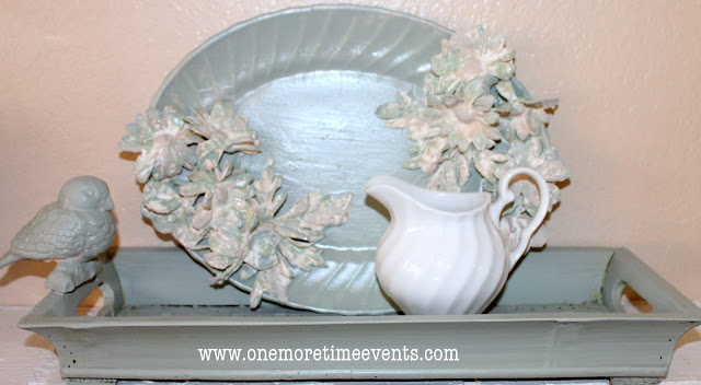 Silk Flowers made into Plaster of paris Flowers at One More Time Events.com