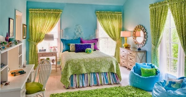 desain kamar tidur warna hijau cerah e rumahku