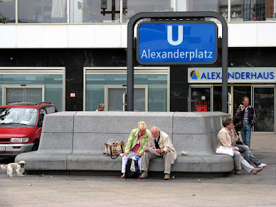 Metro entrance bench, Alexanderplatz, Berlin