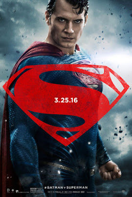 "Batman v Superman Dawn of Justice ""Trinity"" Teaser Character Movie Poster Set - Henry Cavill as Superman"