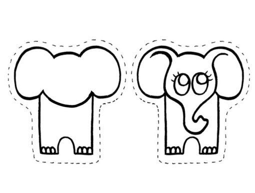 Fichas de Inglés para niños: Animales para colorear y hacer un zoo