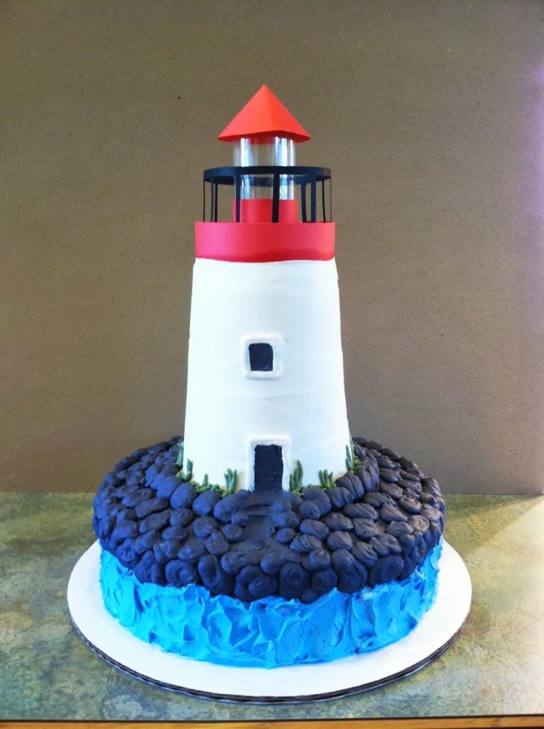 Lighthouse Wedding Cake Topper