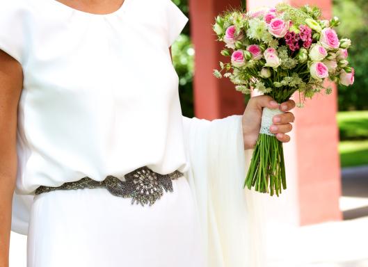 Vestido de novia en Crepe de Seda