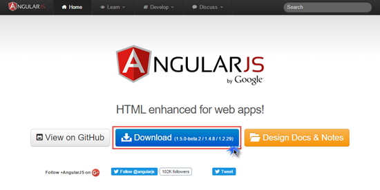 example of single page application using angularjs