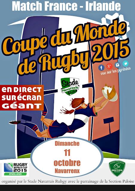 Coupe du Monde Rugby 2015 : France - Irlande à Navarrenx