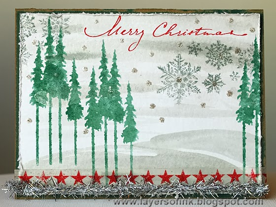 Simon Says Stamp Tim Holtz Holiday Card Kit - Layers of ink