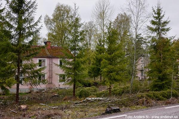 mitt ute i skogen, värmland, arbetarbostäder, hyreshus, invandrarförläggning