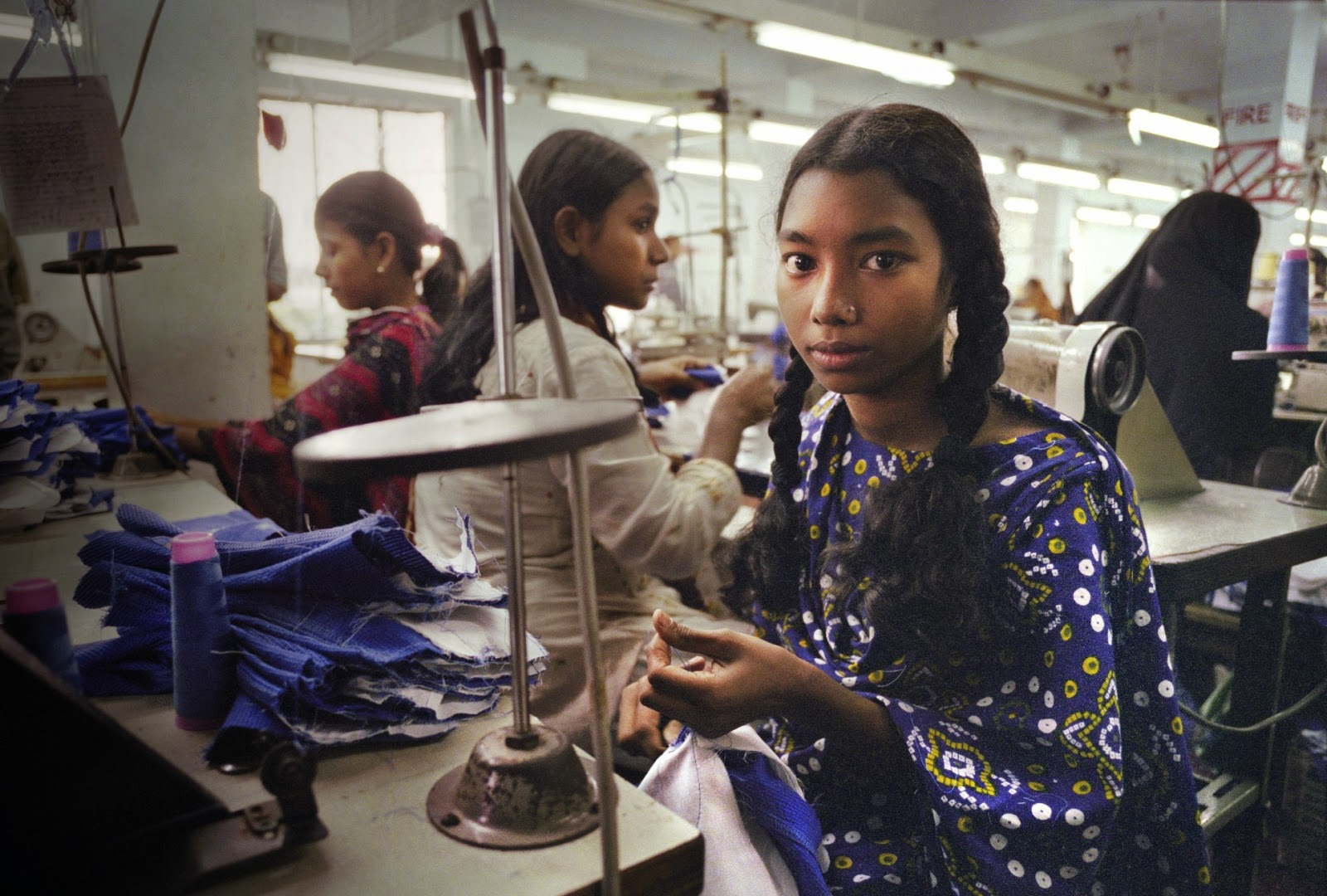 child labour in bangladesh 15-year-old nasrin is one of bangladesh's four million garment workers every day for 12 hours she sits behind a sewing machine, rushing through orders of trousers that will be sold in high-income countries.