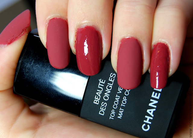 Chanel Beaute des Ongles Mat Top Coat Velvet Revlon Nail Enamel in Teak Rose