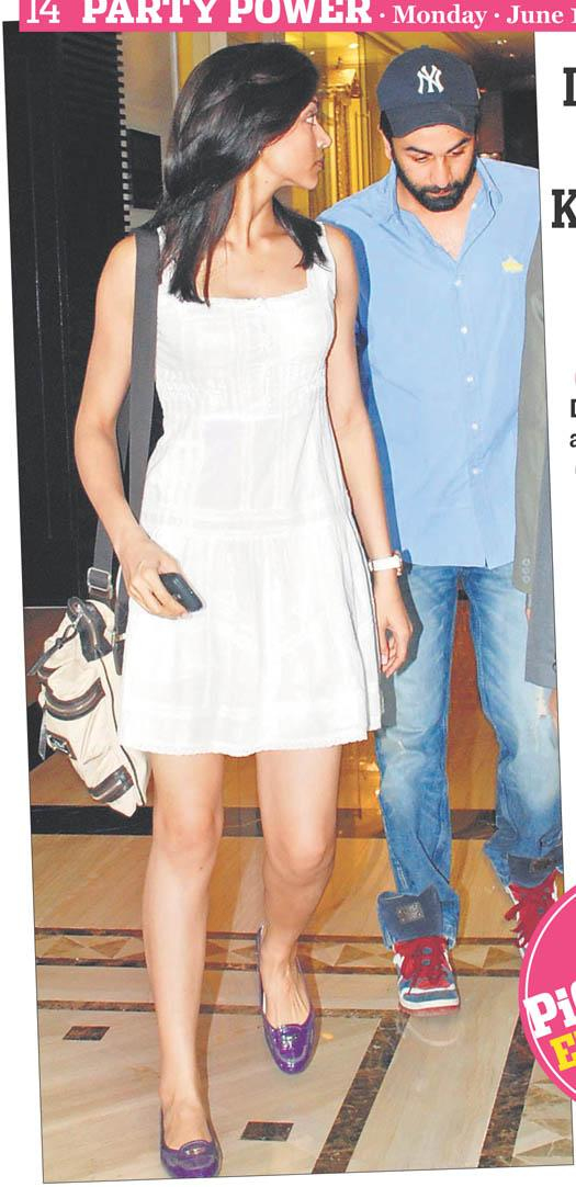 Deepika in white dress and Ranbir in blue jeans - (4) -  Deepika padukone and Ranbir