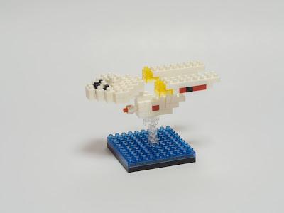 ナノブロックで作ったUSS エンタープライズ NCC-1701