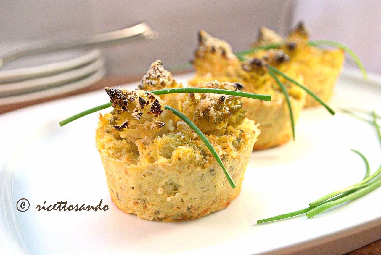 Flan di broccolo romano ricetta vegetariana