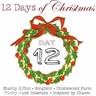12 Days of Christmas, Day 12, via Funky Junk Interiors