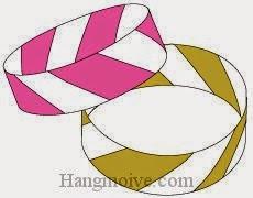 Bước 7: Hoàn thành cách xếp vòng đeo tay bằng giấy theo phong cách origami