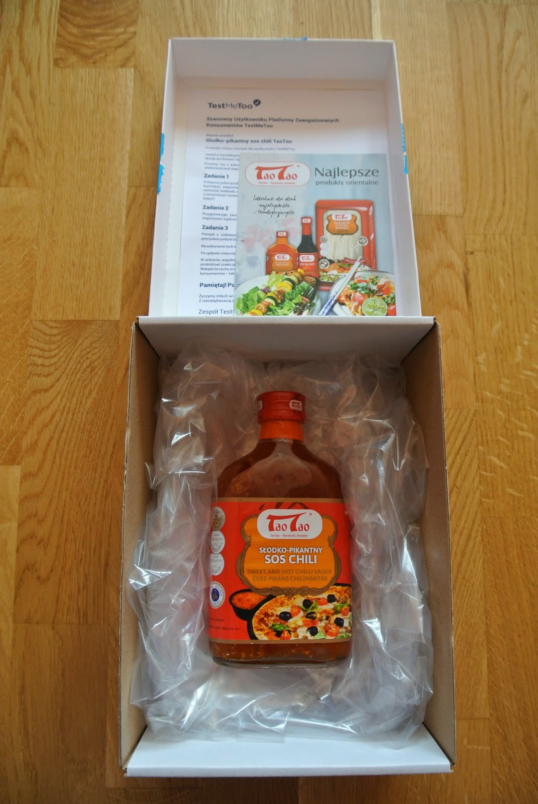 Testmetoo sos chili TaoTao słodko-pikantny