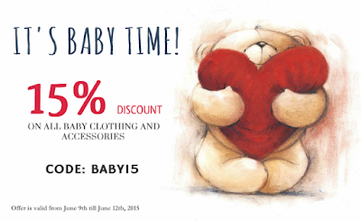 15% DISCOUNT ON BABY CLOTHES, ACCESSORIES AND TOYS