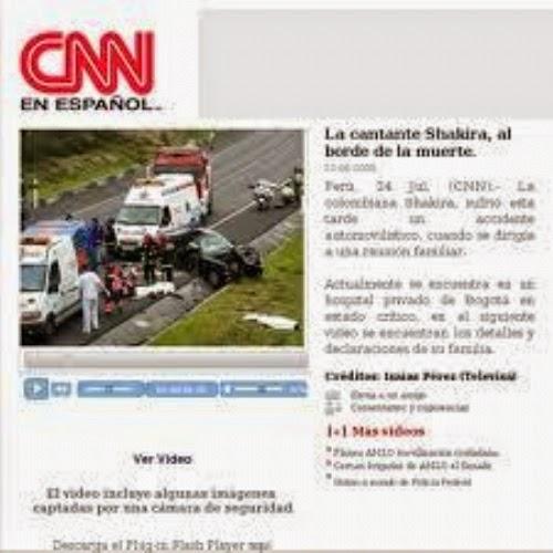 CNN en Español - Falsa notícia sobre a morte de Shakira