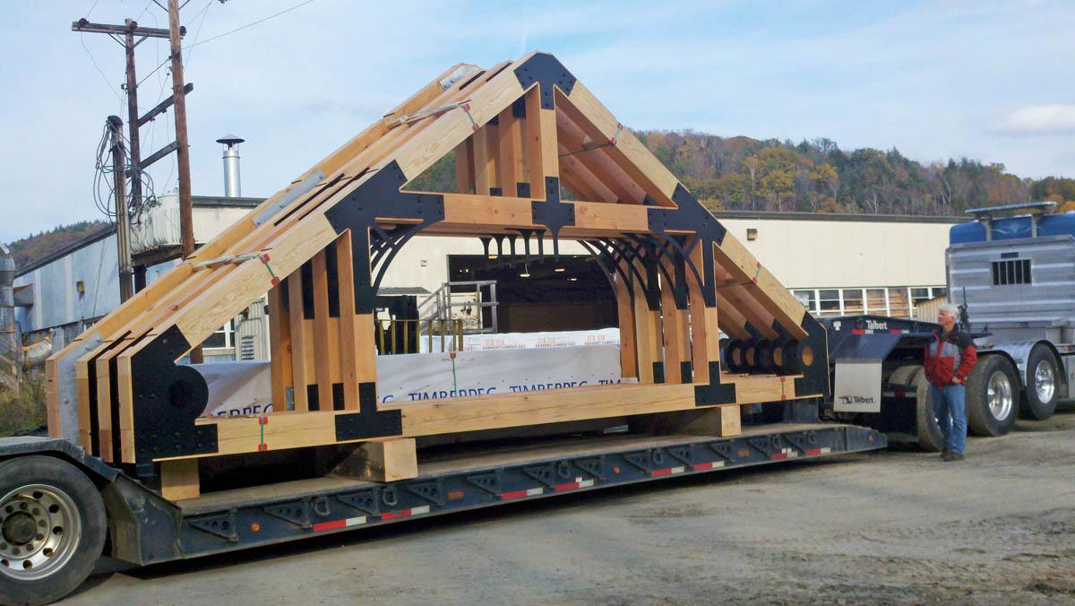 Timberpeg Timber Frame Blog Update: Vermont Welcome Center Timber ...
