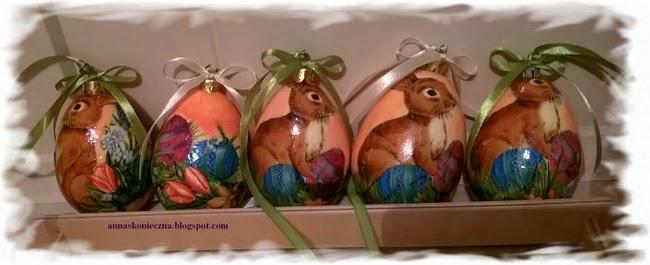 Wielkanoc, jajka styropianowe