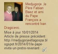Medjugorje actualités le Père Fabian Baez et ami du Pape François a rencontré Ivan Dragicevic.