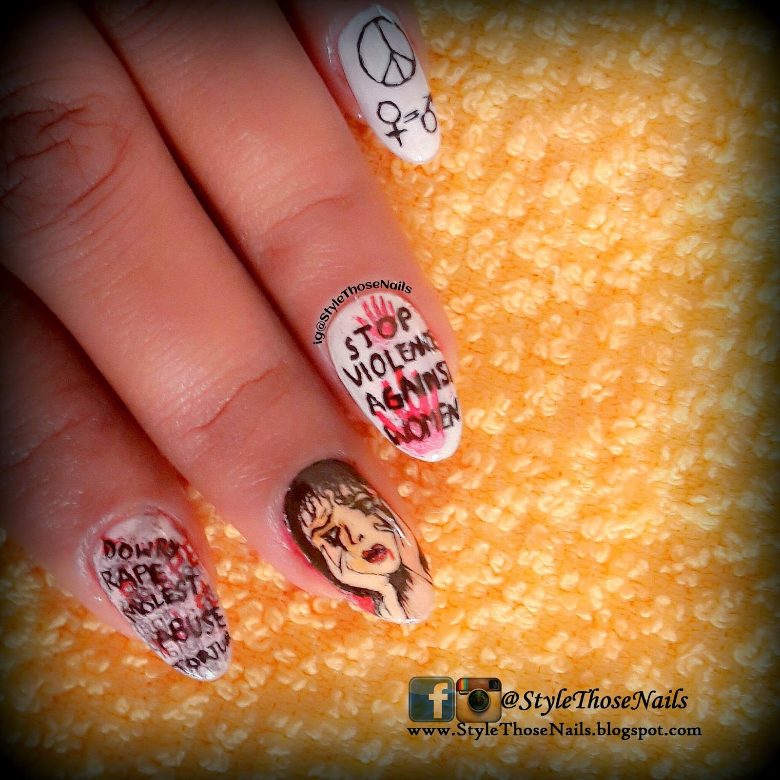 Style Those Nails Stop Violence Against Women Nailart For A Cause