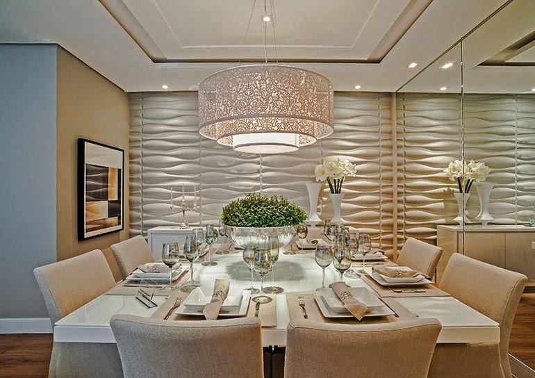 Salas de jantar brancas e off whites veja modelos lindos for Sala de estar off white