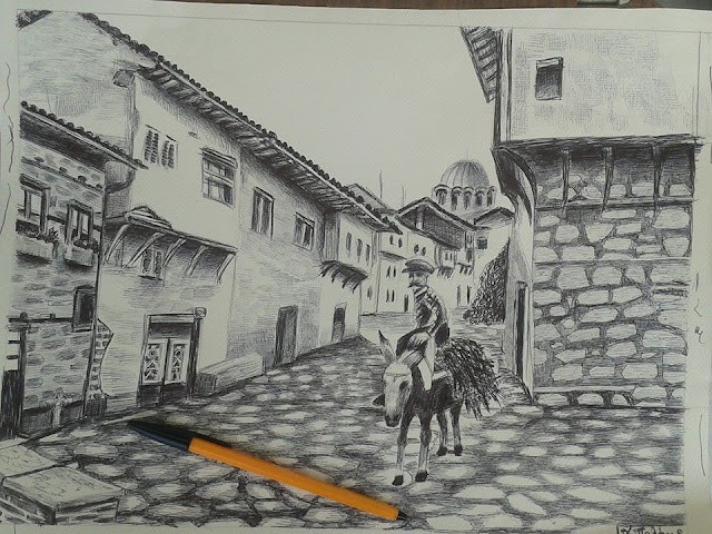 Το Βαρόσι. πίνακας του Χρ. Παλάνη