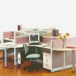 Kantor Partisi 4-Staff Configuration 2 Uno Executive Partition
